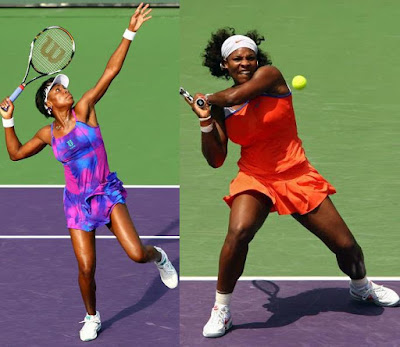 Black Tennis Pro's Venus and Serena  Williams Sony Ericsson Open