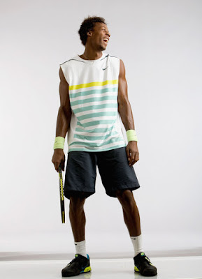 Black Tennis Pro's Gael Monfils Prince Photo Shoot