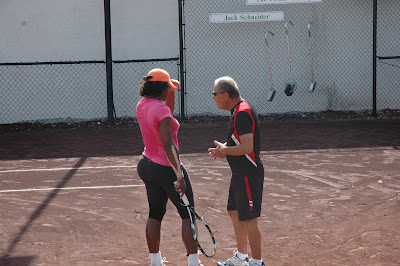 Black Tennis Pro's Serena Williams and Nick Bollettieri at Bollettieri Academy