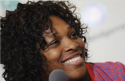 Black Tennis Pro's Serena Williams 2009 Roland Garros Press Conference