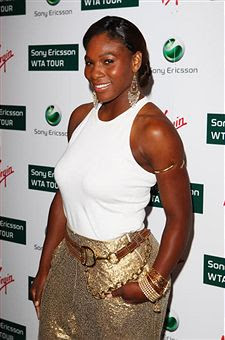Black Tennis Pro's Serena Williams Attends 2009 WTA Tour Pre-Wimbledon Party