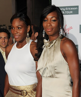 Black Tennis Pro's Venus and Serena Williams Attend 2009 WTA Tour Pre-Wimbledon Party