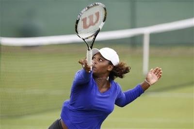 Black Tennis Pro's Serena Williams Wimbledon Day 1 Warmup