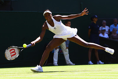 Black Tennis Pro's Venus Williams 2009 Wimbledon Day 2