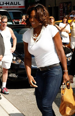 Black Tennis Pro's Serena Williams The Late Night With David Letterman Show