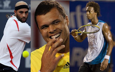 Black Tennis Pro's James Blake, Jo-Wilfried Tsonga and Gael Monfils 2009 Legg Mason Tennis Classic