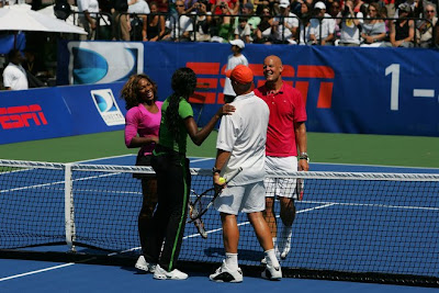 Black Tennis Pro's Venus and Serena Williams and Luke and Murphy Jensen DirecTV ESPN U.S. Open Experience