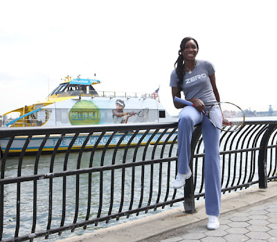 Black Tennis Pro's Venus Williams Captains Maiden Voyage Of Powerade Zero Ferry