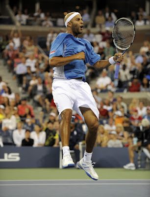 Black Tennis Pro's James Blake 2009 U.S. Open Round 2