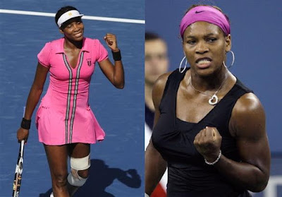Black Tennis Pro's Venus and Serena Williams 2009 U.S. Open