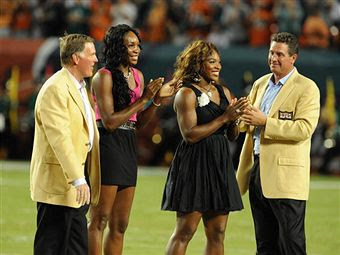 Black Tennis Pro's Venus and Serena Williams, Bob Griese and Dan Marino, Miami Deolphins and Indianapolis Colts Game