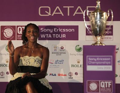 Black Tennis Pro's Venus and Serena Williams Join Elite Eight In Doha for 2009 Sony Ericsson Championships