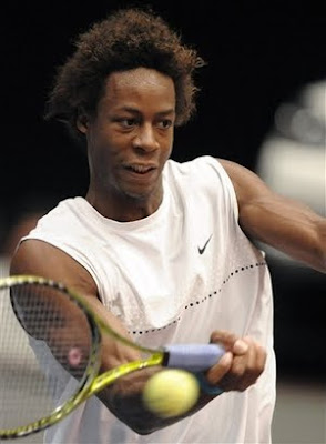 Black Tennis Pro's Gael Monfils Banks Austria Tennis Trophy