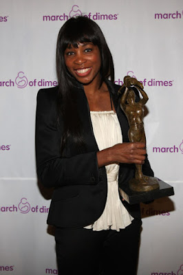 Black Tennis Pro's Venus Williams March of Dimes Sportswoman Of The Year