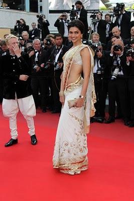 Deepika Padukone in saree at 63rd cannes