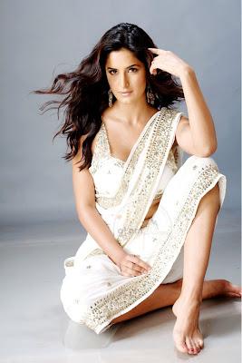 Katrina Kaif in white Embroidered Saree