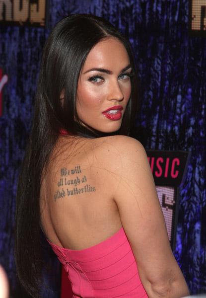 Megan Fox Bare Back Close