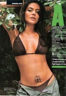 Mandira Bedi in bikini