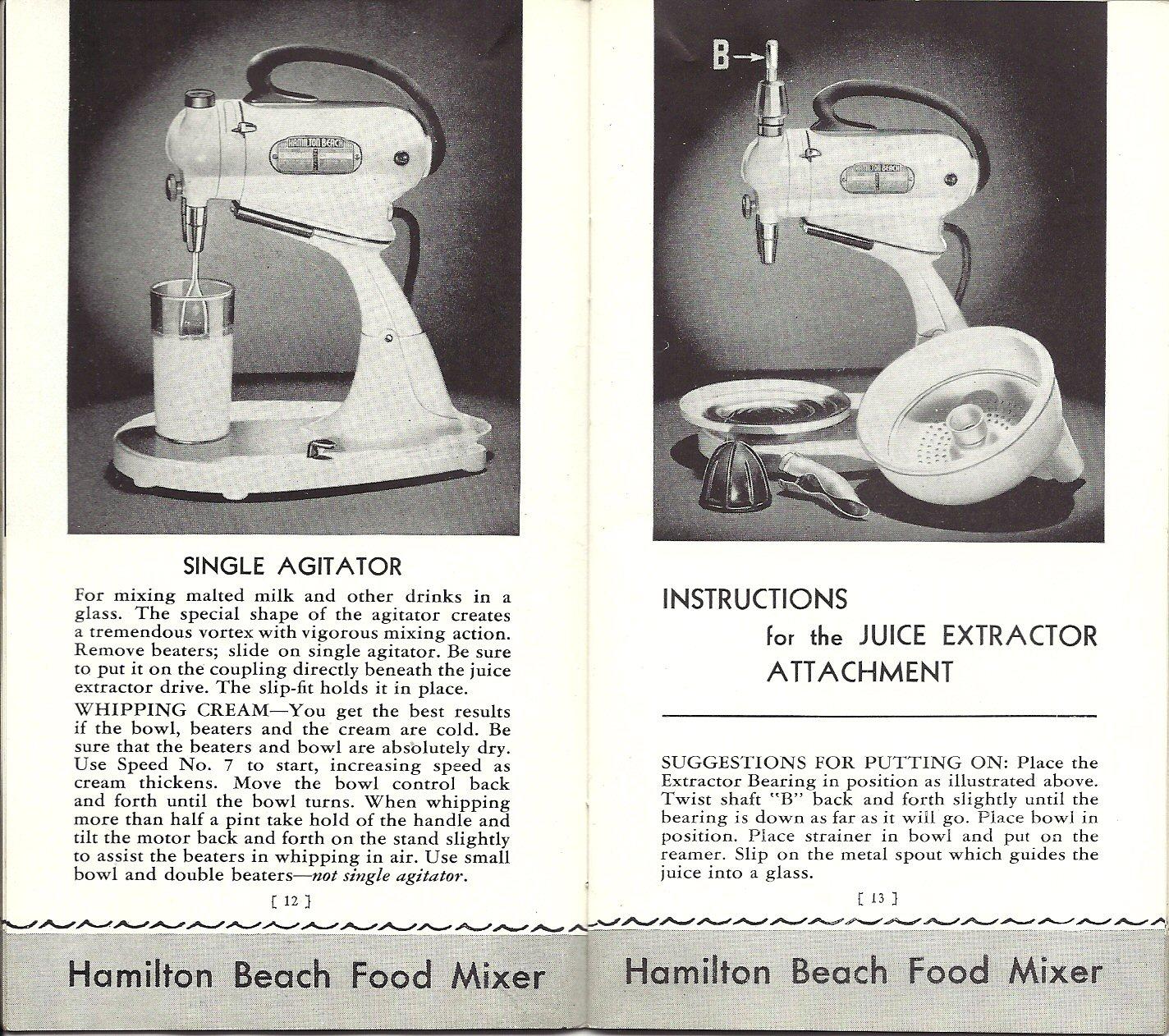 I Aldi Hamilton Beach Model E Food Mixer Instruction Manual Dough Wiring Diagram