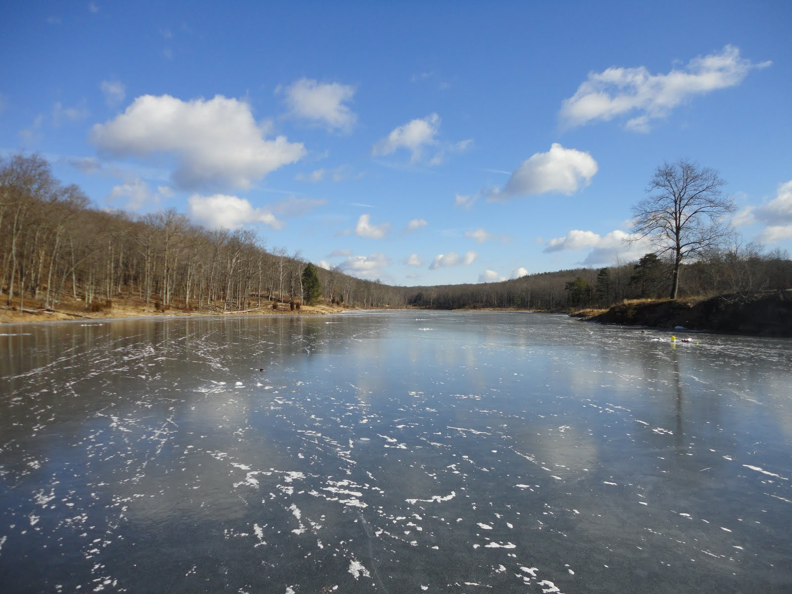 The slippery trout a fly fishing blog ice fishing new for Fishing lakes in nj