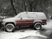 the 4runner covered in snow!