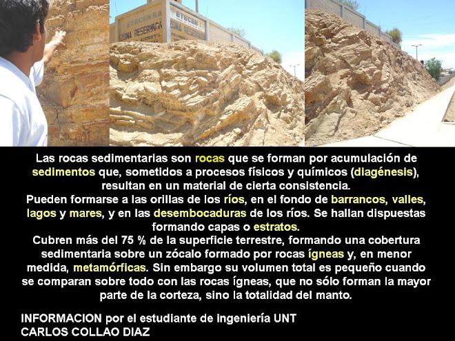 LAS ROCAS SEDIMENTARIAS EN LA Urb. LAS BRISAS - CHICLAYO - PERU