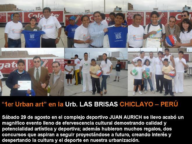 """""""1er Urban art – Arte Urbano"""" en la Urb. LAS BRISAS CHICLAYO - PERÚ"""