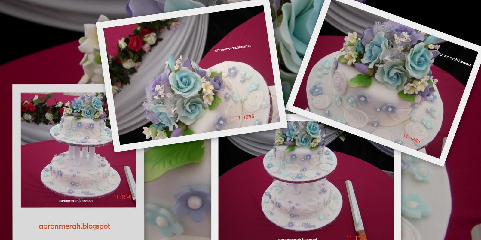 The Red Apron Cakes & Cupcakes Purple & Blue Wedding Cake