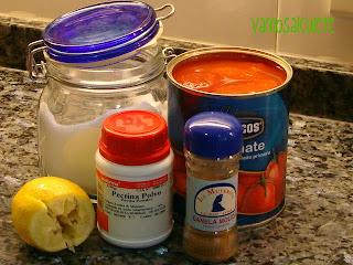 """MERMELADA DE TOMATE """"LIGHT"""" O APTA PARA DIETAS Ingredientes+004"""
