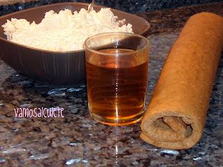 BRAZO GITANO DE CHOCOLATE RELLENO DE CREMA DE MANTEQUILLA Ingredientes