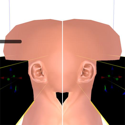 スケールと耳の位置関係が修正された