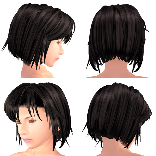 様々な角度から見たショートヘア