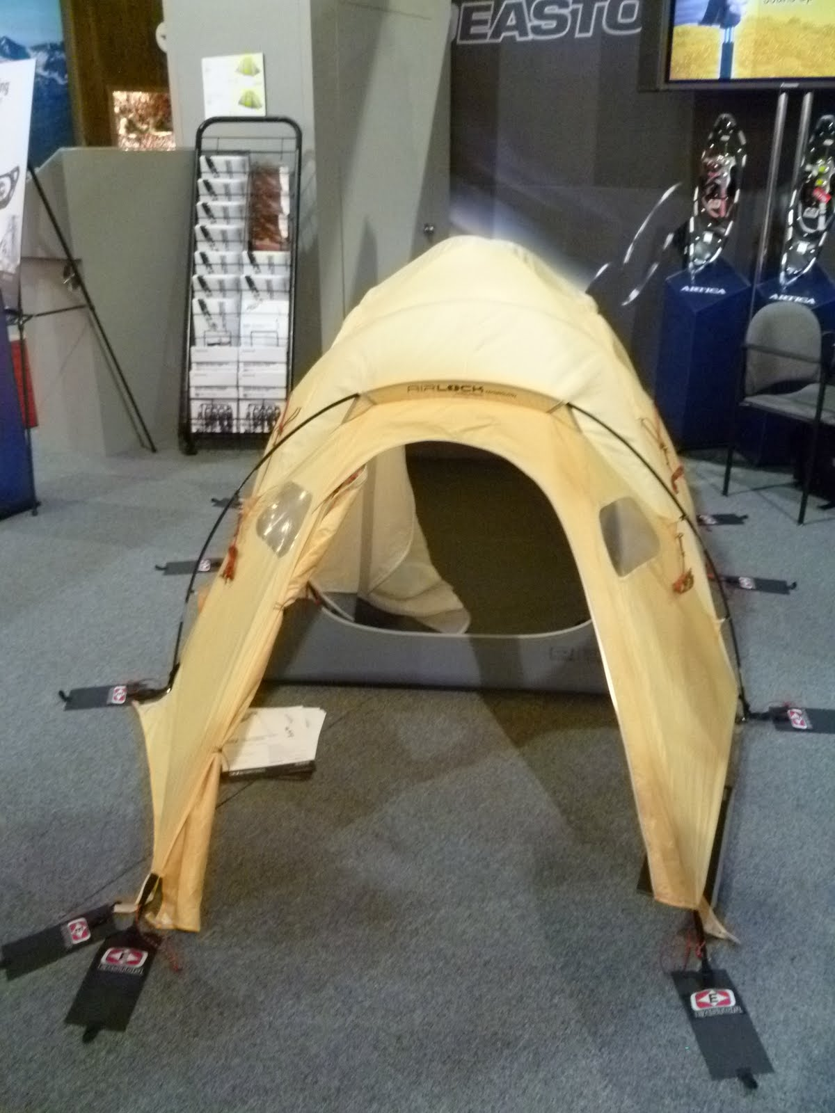 Easton Tent - I donu0027t recall the the name of the tent but Easton had tent poles that were half the weight of aluminum tent poles. & SmallFrye-Travels: Outdoor Retailer Show 1/23/11
