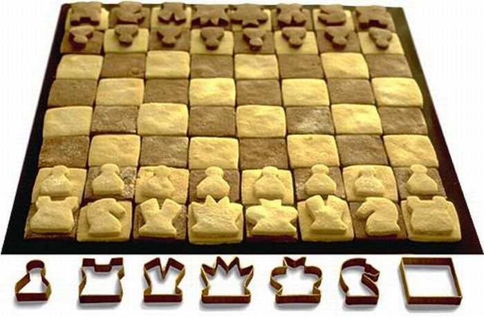 the key to winning on this chess set might be resisting the temptation to devour your own pieces