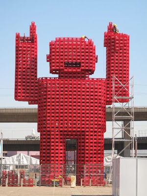 Monster made of Coke bottle crates Seen On www.coolpicturegallery.net