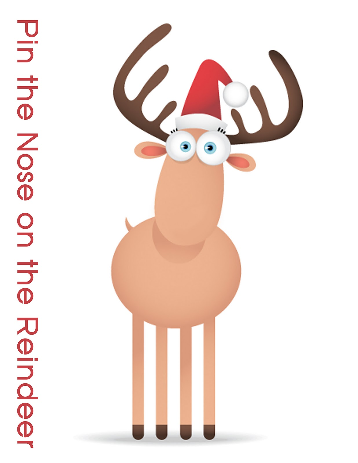 Ridiculous image inside pin the nose on rudolph printable