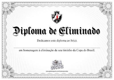 Vasco: Diploma de Eliminado