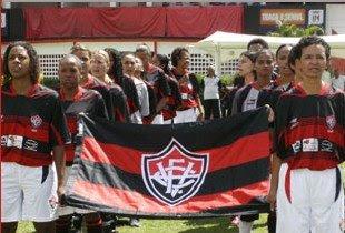 Foto: Jogadoras do Esporte Clube Vitória 2008/2009