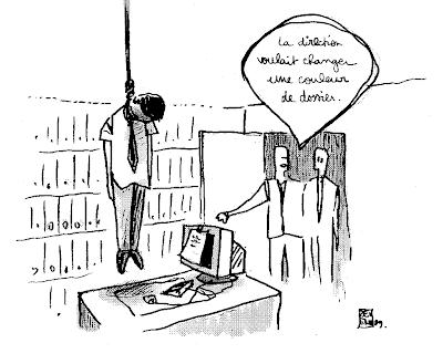 dessin presse suicide France Telecom