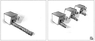 dessin presse grève poste