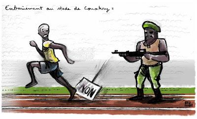 dessin presse guinée