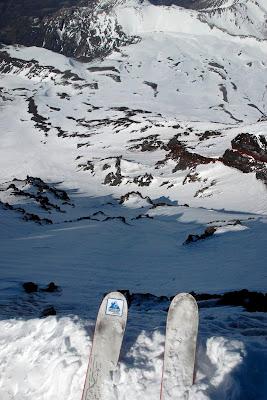 Skiing Lanin Volcano Chile