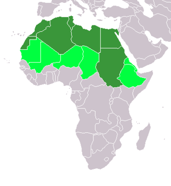 Map of North African Countries