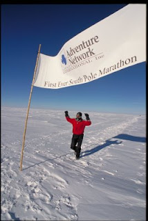 Dean Karnazes Finishing Marathon in Antarctica South Pole