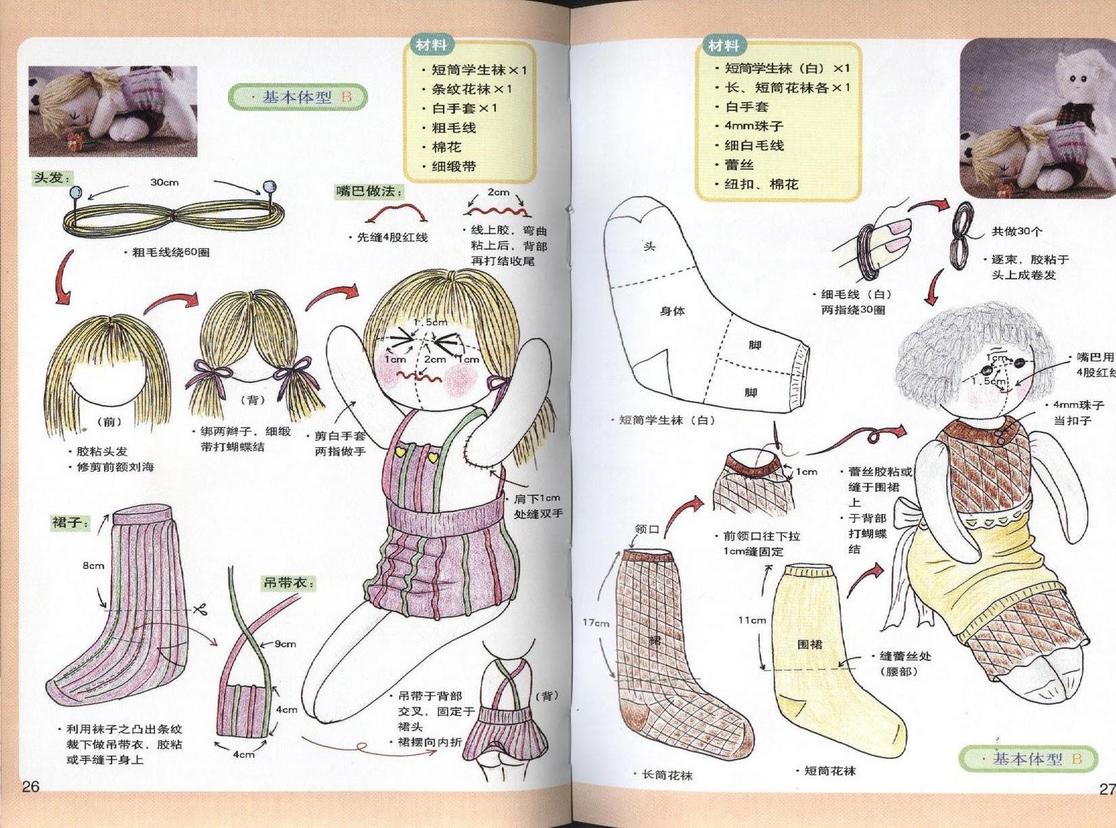 Как сшить кофту для кукол из носка 984