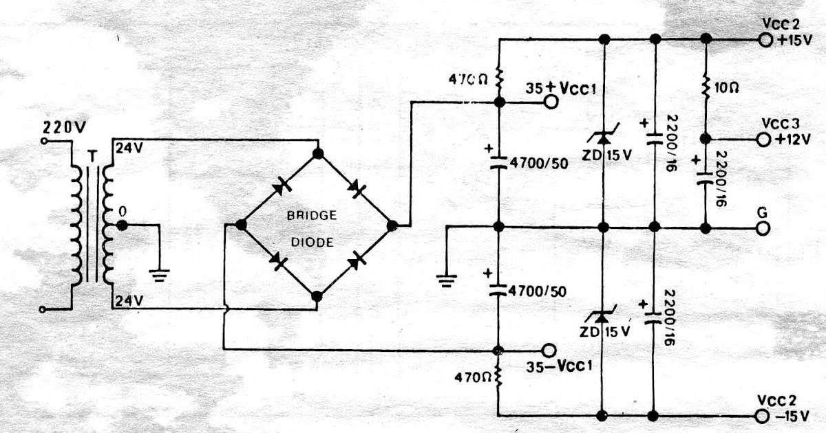 power supply circuit  simple power supply regulator 12v 15v 30v by zener diode