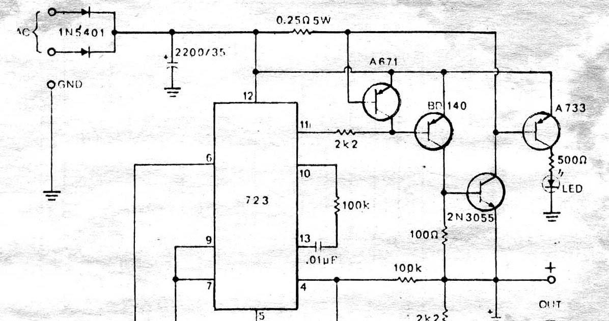 power supply circuit circuit power supply regulator 0 35v 2a by icpower supply circuit circuit power supply regulator 0 35v 2a by ic lm723 transistor 2n3055 \u0026 bd140 \u0026 a671