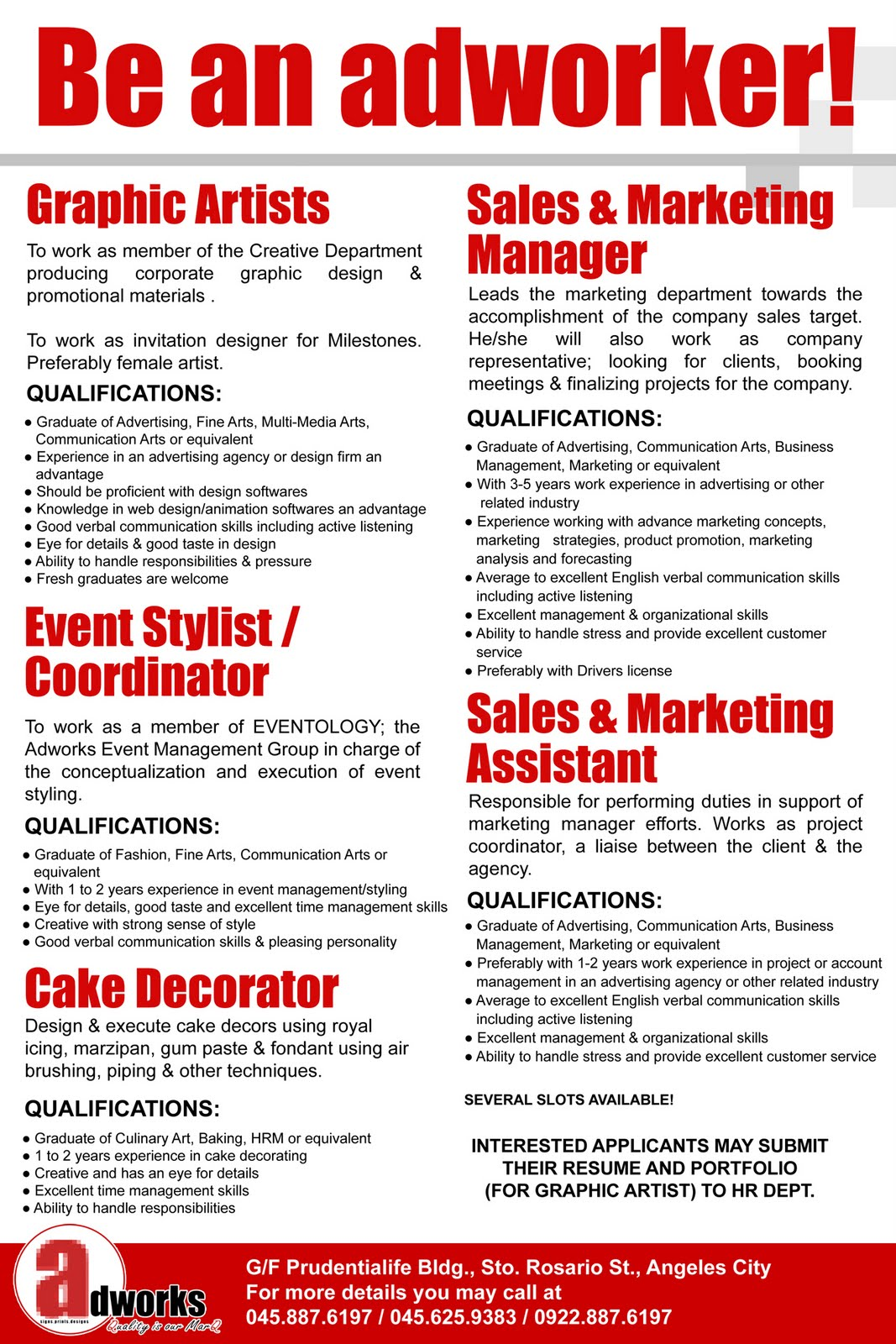 adworks career opportunities s marketing manager