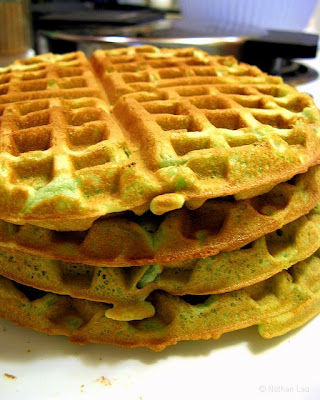 Pandan Waffles