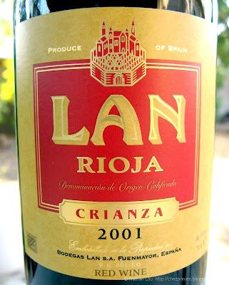 2001 Bodega LAN Crianza Rioja Spanish wine